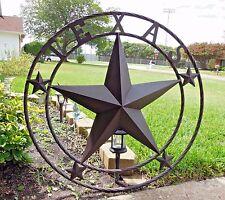 "40"" TEXAS LONE STAR BARN METAL WALL ART WESTERN HOME DECOR RUSTIC REDISH BROWN"