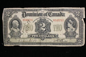 1914 Dominion of Canada. ($2) Two Dollars. Boville. (C)