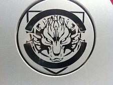 FEROCE WOLF AUTO CARBURANTE GAS TANK CAP Adesivi Adesivo Decalcomania Grafica (Nero)
