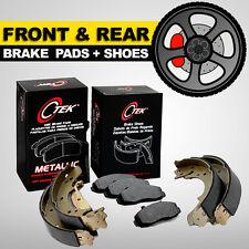 FRONT + REAR Brake Pads + Shoes 2 Sets Fits Honda Civic HX, DX, EX, GX, LX