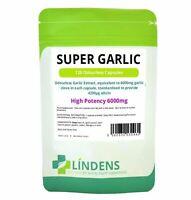 **SUPER Strength GARLIC 6000mg Capsules (120) Odourless Lindens