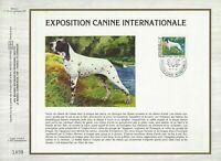 FEUILLET CEF 1er JOUR MONACO EXPOSITION CANINE INTERNATIONALE 1984