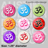 "(9) OM SYMBOL 1.25"" pinback buttons / badges - aum yoga peace pins"