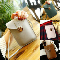 Retro Women Wallet Purse Leather Coin Cell Phone Mini Cross-body Shoulder Bag US