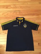 LA Galaxy MLS Adidas Climalite Formotion Men's Collared Soccer Jersey Size L