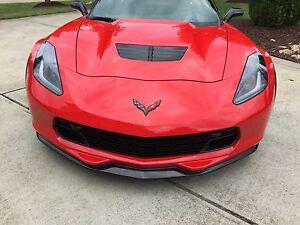 C7 Corvette Stingray Z06 Grand Sport Stage 1 Front Splitter Carbon Fiber