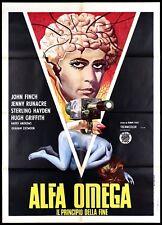 ALFA OMEGA MANIFESTO CINEMA FILM SCI-FI 1974 THE FINAL PROGRAMME MOVIE POSTER 2F