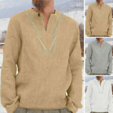 Camicie casual e maglie da uomo a lunghezza della manica manica lunga in cotone taglia 2XL