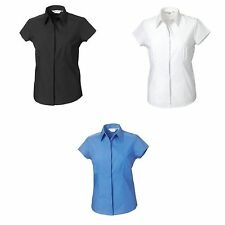 Women's Fitted No Pattern Collared Tops & Shirts