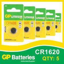 GP Lithium Button Battery CR1620 (DL1620) card of 5 [WATCH & CALCULATOR + OTHER]