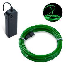 2m Green EL Wire Party Halloween Christmas Neon Glowing Strobing Light Battery