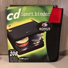 NEW CD Projects Black & Red Sport Binder 208 Capacity CD Case