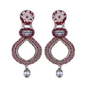 AYALA BAR Beautiful 'RED ROCK' Earrings New HIP Collection Winter 2020