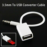 3.5mm Male AUX Audio Plug Jack to USB 2.0 Female Converter Adapter Cable Cord