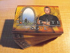STARGATE SEASON 6 COMPLETE BASIC SET OF 72 CARDS