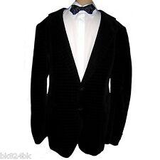 TIGER of SWEDEN Mens Black Velvet Jacquard Blazer Smoking Dinner Jacket 40/42 L