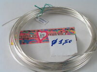 50 CM DI FILO IN ARGENTO 925 ITALY SEMI COTTO  1,5 MM.