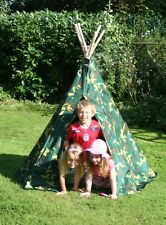 Camouflage Wigwam/Teepee - Childrens Fun Outdoor Play Tent