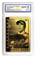 BRADY QUINN 2007 NFL DRAFT PICK  '07  US Notre Dame 23K  GOLD   BAR TABLET CARD