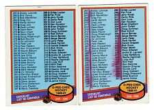 1X MARKED CHECKLIST 1980 81 O Pee Chee #396 opc VGEX Lots Available
