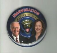 2021 INAUGURATION pin BIDEN pinback KAMALA Harris Presidential Seal button