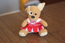 Build a Bear Minature McDonalds Brown Sugar Puppy Cheerleading Cheer Outfit Red
