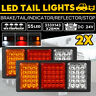 2x 24V 55 LED Trailer Lights Tail Light Ute Boat Truck Caravan Indicator Lamps