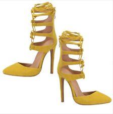 Gladiator Womens High Stilettos Heel Cross Strappy Tie Up Pointy Toe Sandals L