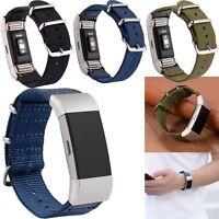 Nylon Weave Ersatz Wrist Strap Uhrenarmband Armband für Fitbit Charge 2 Tracker
