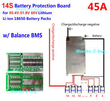 BMS/PCB/PCM for 50.4V(14S)Li-Ion Battery Pack(45A Drain Rate)w/ Balance Function