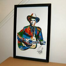 Hank Williams Singer Guitar Country Western Music Print Poster Wall Art 11x17