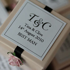 1 x Handmade Personalised VINTAGE PINK Favour Boxes - Any Quantity Any Design
