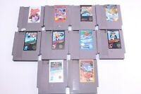 Nintendo Entertainment System NES Vintage Lot Of 10 Mixed Genre Video Games