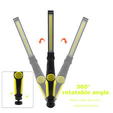 ABS Multifunction Rechargeable COB LED Slim Work Light Lamp Flashlight Magnetic
