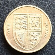 2012 Royal Shield of Arms circulated £1 One Pound Coin Fourth Portrait RARE