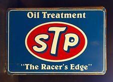 STP Motor Oil Treatment  Small METAL SIGN vtg Retro Garage Wall Decor 20x30 Cm