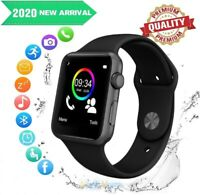 Bluetooth Smart Wrist Watch Sports Fitness Tracker SIM SD Cam Fits iOS Android