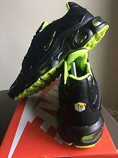 ⭐‼️ New Nike Air Max TN Size U.K. 8 Tuned 1 Black Yellow 90 95 Designer Sale