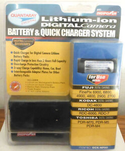 Quantaray Li-Ion Digital Camera Battery & Charger System By Digipower (QCK-NP80)