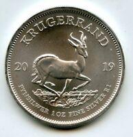 2019 South Africa Krugerrand 999 Fine Silver 1 oz Coin One Ounce bullion - BJ102