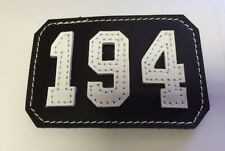 "New Yorker Style Insert Type ""194"" BlackShield / White Raised Letters"