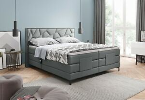 Box Spring Bed Electric Adjustable Hotel Bed Double Bed Modern Grey Bosco