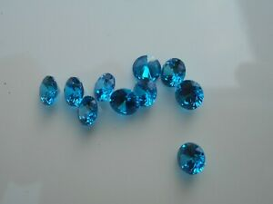 Blue Cubic Zirconia 4.5mm round cut stones for jewellery making