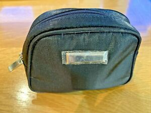 New Black Zip Up Make Up Cosmetic Beauty Bag Toiletry bag size 17 x 13 x 3cms