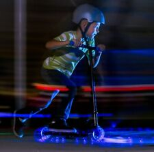 Yvolution Neon Vector Blue Led Light Up Scooter Foldable Kids New