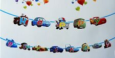 DISNEY CARS LIGHTNING MCQUEEN HAPPY BIRTHDAY PARTY LETTER BANNER  - 1 PACK