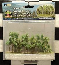 "JTT SCENERY 95619 WOODS EDGE TREES - PASTEL GREEN  2"" - 2 1/2""  N-SCALE  20/PK"