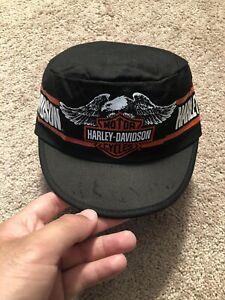 Vintage VTG Kids 70s-80s Harley Davidson Motorcycle Painter Cap Deadstock BNWT