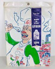 Vintage 60's Super Chef Bar-B-Que Apron Nip Rare