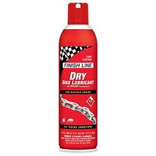 SPRAY FINISH LINE DRY TEFLON PLUS LUBE BIKE CHAIN LUBE DRY BICYCLE 17 OZ